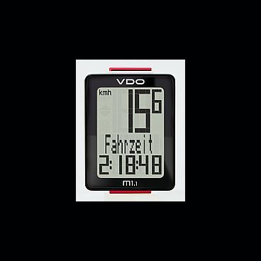 Велокомпьютер VDO M1.1 NEW 5 ф-ций дисплей 3 строки, проводной, черно-белый  4-30010Велокомпьютеры<br>NEW, 5 функций, сохранение данных при замене батареи, влагозащитный корпус, трехстрочный дисплей c крупными символами, индикатор разряда батареи, черно-белый (Германия), Размер: 49х37х10 мм.