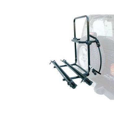 Автобагажник на запаску Peruzzo BRENNERO, 313Багажники для автомобилей<br>Сталь, труба D: 30 мм, для 2-х велосипедов, фиксация велосипеда: колёса установлены в полозе, за трубу рамы, цвет: серый