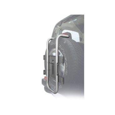 Автобагажник на запаску Peruzzo STELVIO,  373/AБагажники для автомобилей<br>Материал: алюминий, труба D: 30 мм, цвет: серое защитное покрытие