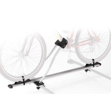 Автобагажник на крышу Peruzzo ROMA,  602Багажники для автомобилей<br>Алюминий, для 1-го велосипеда, фиксация велосипеда: колёса установлены в полозе, за нижнюю трубу рамы, max D: 70 мм - круглая, 70х90 мм - овальная, зажим-замок под ключ, установлен на дуги max. 70 мм, цвет: серое защитное покрытие