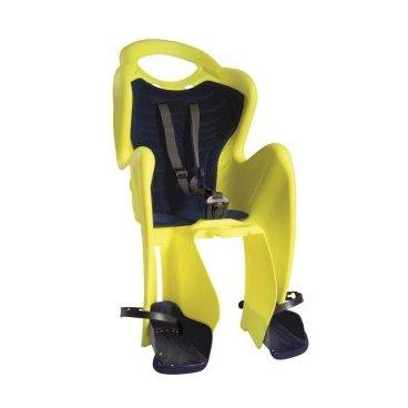 Детское велокресло на багажник BELLELLI Mr Fox Clamp Hi-Viz заднее, до 7лет/22кг, 01FXM00027