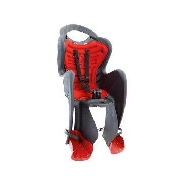 Велокресло детское BELLELLI заднее Mr Fox Standard B-Fix, тёмно-серое, арт.01FXSB0002Детское велокресло<br>Велокресло детское BELLELLI заднее Mr Fox Standard B-Fix, <br>Bellelli Mr Fox Standard - превосходное кресло для транспортировки детей дошкольного возраста на велосипеде. Его конструкция прочная и надежная, а материал, из которого выполнено Bellelli Mr Fox Standard, легкий и абсолютно нетоксичный. Ремни безопасности трехточечные, хорошо фиксируют ребенка, защищая от травм. Подножки регулируются, имеют удобную поверхность для устойчивого расположения ног, независимо от роста малыша. Детское велокресло Bellelli Mr Fox Standard оснащено мягкой подкладкой, которая хорошо моется и чистится, не теряя первоначальных свойств. Эргономичная спинка обеспечивает безупречную посадку, предусмотрена также выемка для шлема.<br>Устанавливается: на багажник велосипеда.<br>Вес ребёнка: до 22 кг.<br>Приблизительный возраст ребёнка: ~от 1 года до 7 лет.<br>Допустимая ширина багажника: от 12-17,5 см (багажник НЕ консольного типа).<br>Грузоподъёмность багажника: до 25 кг.<br>Колёса взрослого велосипеда: от 26 до 29.<br>Крепление Clamp: это быстросъёмное крепление на багажник.<br>Цвет: темно- серый<br>Артикул: 01FXSB0002