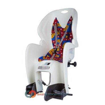 Детское велокресло на багажник M-Wave белое до 7лет/22кг 5-259868Детское велокресло<br>Детское велокресло M-WAVE на багажник.<br> Сиденье оснащено системой 3х точечных ремней безопасности,которые надёжно зафиксируют вашего ребенка, защитой и удерживающими устройствами для ног.<br> Рекомендуемый вес ребенка 9-22кг, возраст 1-7 лет.<br> Технические характеристики:<br> Быстрая и удобная установка<br> Надёжные ремни с системой 3х точечного контактирования<br> Регулируемая высота подножек<br> Размеры: 380 x 720 x 420 мм<br> Вес 2.5 кг <br> Устанавливается на велосипеды с колесами 26 - 28 дюймов.<br> Цвет : белый<br> Страна производитель Италия<br>Высота спинки:46.5смШирина спинки:30.5смШирина сиденья:30смДлина сиденья:19см<br><br>Артикул 5-259868