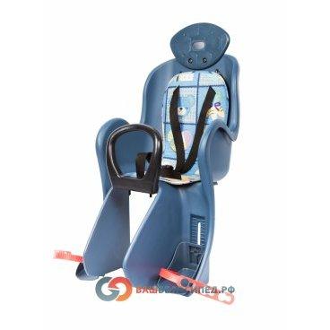 Кресло детское на багажник Vinca VS 801 с креплением, накладка с рисунком, , VS 801 animalsДетское велокресло<br>Кресло детское с регулировкой высоты упора для ног, мягкая подкладка из ткани, несъёмные подголовник и поручень, крепление к багажнику велосипеда,  материал ПВХ.<br>Характеристики:<br>Тип кресла : заднее<br>Установка: на багажник<br>Макс. вес ребенка: 22 кг<br>Расположение ребенка: по ходу движения<br>Крепление ремней безопасности: трехточечное<br>Мягкая накладка на сиденье:есть<br>Защита ног: есть<br>Регулируемые по высоте подножки:есть<br>Поручень безопасности:есть<br>Материал: ПВХ.<br>Цвет: Рисунок<br>Высота спинки:35смШирина спинки:29смДлина сиденья:17.5смДиаметр замка:160мм <br><br>Производство: Тайвань.