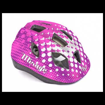 Велошлем детский Author Mirage Inmold, 48-54 cm, 12 отверстий, розово-белый, 8-9089961Велошлемы<br>Велошлем детский Author Mirage Inmold 48-54cm<br><br>Легкий детский шлем, изготовленный по технологии In-mold. Система фиксации Fit помогает быстро отрегулировать шлем на голове ребенка. Большие вентиляционные отверстия позволяют пропускать свежий прохладный воздух, даже в самую жару, что дарит ребенку дополнительный комфорт.<br><br>Технология In-mold обеспечивает устойчивость и низкий вес.<br><br>Подушечки внутри шлема антибактериальные и их можно снимать, стирать.<br><br>12 вентиляционных отверстий обеспечивают превосходную вентиляцию (впереди есть сетка от насекомых).<br>Размер: 48-54 см<br>Цвет: розово-белый <br>Вес: 220г.