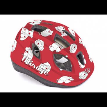Велошлем детский Author Mirage Inmold, 48-54 cm, 12 отверстий, красный, 8-9089958Велошлемы<br>Шлем детский Author Mirage Inmold 48-54cm red-bear <br>Легкий детский шлем, изготовленный по технологии In-mold. Система фиксации Fit помогает быстро отрегулировать шлем на голове ребенка. Большие вентиляционные отверстия позволяют пропускать свежий прохладный воздух, даже в самую жару, что дарит ребенку дополнительный комфорт.<br><br>Технология In-mold обеспечивает устойчивость и низкий вес.<br><br>Подушечки внутри шлема антибактериальные и их можно снимать, стирать.<br><br>12 вентиляционных отверстий обеспечивают превосходную вентиляцию (впереди есть сетка от насекомых).<br>Размер: 48-54 см<br>Вес: 400г.