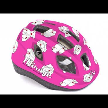 Велошлем детский Author Mirage Inmold, 48-54 cm, 12 отверстий, розовый, 8-9089957