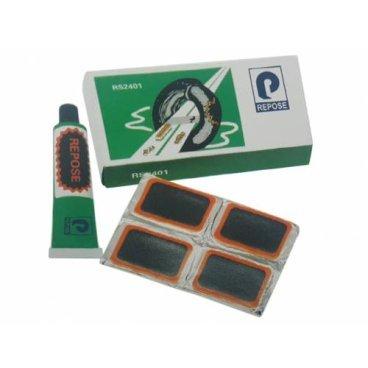 Ремкомплект SUNTEK, 24 прямоугольные заплатки, клей, RS2401Велоаптечки<br>SUNTEK Ремкомплект 24 прямоугольные заплатки, клей<br><br><br>Ремнабор для камер: Да