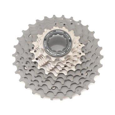 Кассета велосипедная SHIMANO Dura-Ace, R9100, 11 скоростей, звезды 11-30, ICSR910011130Кассеты<br>Кассета Shimano Dura-Ace CS-R9100, для привода 11 скоростей, звезды 11-30.