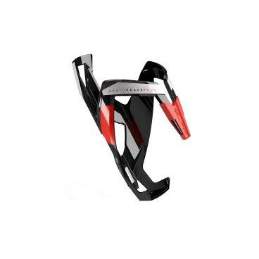 Велосипедный флягодержатель Elite Custom Race Plus, fiberglass, черный, лиловый рисунок. EL0140611