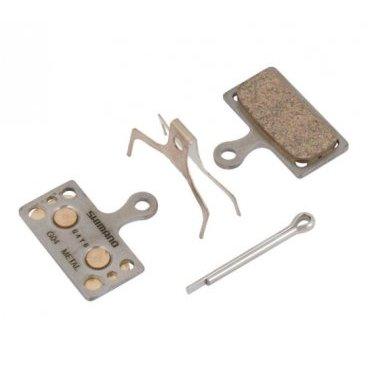Тормозные колодки Shimano G04S, состав металл, с пружинкой и шплинтом, Y8MY98010