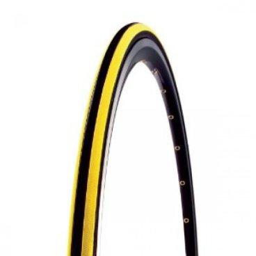 Покрышка велосипедная CST, 700x23C, C1406 CZAR, черный-желтый, слик, TB86323600Велопокрышки<br>Покрышка велосипедная C1406 CZAR<br>Размер: 700x23C <br> черный-желтый<br>120 PSI<br> вес 310 грамм<br>полный слик с участками разной плотности