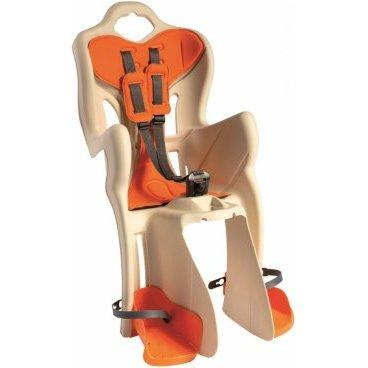 Детское велокресло BELLELLI B-One Clamp, на багажник, кремовое, до 22кг, 01B1M00025
