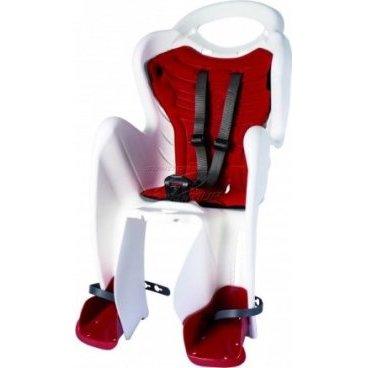 Детское велокресло BELLELLI Mr Fox Standard B-Fix, на подседельную трубу, белое, до 22 кг, 01FXSB0020