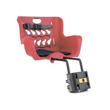Детское велокресло BELLELLI Pulcino B-Fix, на рулевую трубу, красное, 01PLCB008