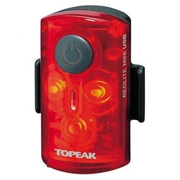Задний габаритный фонарь с зарядкой TOPEAK RedLite Mini USB, TMS078Фары и фонари для велосипеда<br>Задний габаритный фонарь с зарядкой от USB (пластик)