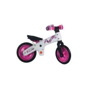 Беговел детский BELLELLI B-Bip бело-розовый, GBE00008Беговелы для детей<br>Беговел BELLELLI B-Bip бело-розовый.<br>Беговел Bellelli B-Bip это детский велосипед без педалей рассчитан для детей от 2 до 5 лет.<br> Итальянская фирма Bellelli имеет европейский сертификат качества на всю свою продукцию, в которой беговел B-Bip не является исключением. <br>Велобег имеет регулировку высоты седла и специалную защиту рук, которая обеспечит безопасность во время обучения. <br><br>Размеры: <br>Высота сидения - от 35 - 43 см; <br>Высота руля - 52,5 см; <br>Размеры беговела - 89 х 15 х 56 см;<br><br>Характеристики<br>Материал рамыУдаропрочный пластик <br>Тип велосипедаДетский <br>БрендBellell <br>Цвет бело-розовый<br>Тип вилки Ригидная.<br>Скоростей 1 <br>Максимальный вес ребенка 30 кг <br>Безопасность <br>На детском беспедальном велосипеде у ребенка меньше шансов упасть, так как ножки находятся на минимальном расстоянии от дорожного покрытия, а центр тяжести байка - низко. На руле предусмотрена защита для рук. Легкий вес велосипеда предохраняет от возможных ушибов. При падении во время езды,Baby Bike не может придавить малыша, т.к. вес велосипеда 3,2 кг. Нет педалей и цепи, которые могут поранить ножки.<br>Простота и удобство: <br>Беспедальный велосипед быстро разбирается и упаковывается для дальних путешествий или для хранения дома в зимний период. Нет необходимости смазывать цепь, накачивать колеса или подкручивать педали. Мягкий пластик на колесах детского беспедального велосипеда не поддается проколам и улучшает амортизацию. Беспедальный велосипед растет вместе с ребенком — высота сиденья изменяется мгновенно (от 33 до 41 см, 7 положений) и рассчитана на возраст от 2 до 5 лет.<br>Легкость<br>Беговел лучше детских машинок, так как они устойчивые и не учат ребенка самостоятельному катанию, не требуют прилагать усилия для удержания равновесия. Прочная и компактная конструкция беспедального велосипеда Baby Bike весит только 3,2 кг! Ребенок может переносить велосипед самостоятель