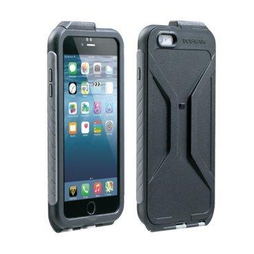 Чехол Topeak Weatherproof RideCase для iPhone 6/6S Plus с креплением, черно-серый, TT9848BG