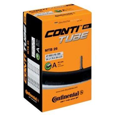 Камера для велосипеда Continental Tour 26(650C), автониппель, облегченная, 180533Камеры для велосипеда<br>Continental Tour 26 [650C] — это высококачественные легкие камеры для использования с 26 покрышками.<br><br>Все камеры Continental производятся по технологии бесшовной вулканизации, обеспечивающей равномерную округлость и высокую надежность в месте соединения ниппеля. Каждая камера проходит 100% строгий контроль качества<br><br>    Размер камеры: 26 x 1 3/8 — 26 x 1.75<br>    Клапан: Schrader<br>    Длина ниппеля: 90мм длина авто<br>    Вес: 165 г
