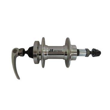 Втулка задняя JOY TECH D242DSE, 32H, ось М10х145х137мм, под трещетку, алюминий, D242DSEВтулки для велосипеда<br>Втулка JOY TECH задняя под трещотку, MTB, 8 скоростей, 32 отверстия, ось М10х145х137 мм, под диск, алюминий, с эксцентриком 148,5 мм, серебристая