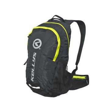 Велосипедный рюкзак KELLYS INVADER, 25 л, чёрный/салатовая молния, полиэстер
