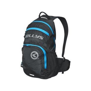 Велосипедный рюкзак KELLYS INVADER, 25 л, чёрный/синяя молния, полиэстер