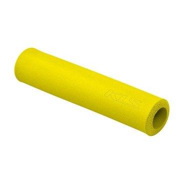 Грипсы KELLYS KLS SILICA, 130 мм, силикон, желтыйРучки и Рога<br>Мягкие велосипедные грипсы<br><br>Особенности<br><br>    эфективно поглощают вибрацию;<br>    легко встановлюются.<br><br>Характеристика:<br><br>    материал- силикон<br>    в комплекте пробки-заглушки;<br>    длина - 130 мм.<br>    Цвет: желтый