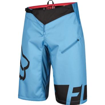 Велошорты Fox Demo DH Short, Размер: М (W32), голубой, 12970-189-32Велошорты<br>Стильные и удобные шорты, выполненные из плотной и устойчивой к истиранию синтетической ткани. Благодаря особому покрою под названием RAP (Rider Attack Position), они идеально подойдут любителям даунхила и эндуро. Вставки из эластичного сетчатого материала обеспечивают свободу движений и оптимальную вентиляцию.<br><br><br><br>ОСОБЕННОСТИ<br><br><br><br>Материал: полиэстер 600D<br><br>Особый покрой для оптимальной посадки на велосипеде<br><br>Вставки из эластичного сетчатого материала для большей свободы движений и оптимальной вентиляции<br><br>Подкладка из мягкой сетчатой ткани<br><br>Застёжка на молнии и регулируемой стропе<br><br>Оригинальная графика