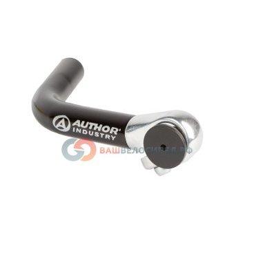 Рога для велосипеда Author алюминиевые длинные ABE-004 Blk изогнутые черные 8-33050001