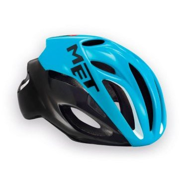 Велошлем MET Rivale, черно-голубой