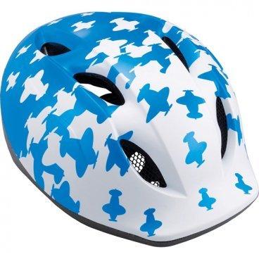 Велошлем детский MET Buddy, бело-синийВелошлемы<br>Традиционный детский шлем от Met – стильный, удобный и хорошо вентилируемый. Классическая обтекаемая форма, интегрированный козырёк, вставки из москитной сетки в вентиляционных отверстиях и внутренник из гипоаллергенного материала – обучение езде на двух колёсах теперь станет ещё веселее и безопаснее. <br><br>ОСОБЕННОСТИ<br><br>Оригинальный дизайн<br>Интегрированный козырёк<br>Удобная система регулировки размера<br>Гипоаллергенный внутренник<br>Вставки из москитной сетки в отверстиях для вентиляции<br><br>Вес: 210 граммов