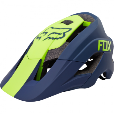 Козырек к шлему Fox Metah Visor Navy, сине-желтый, пластик, 17143-007-OS