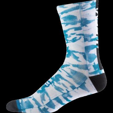 """Носки Fox Creo Trail 8-inch Sock, сине-белыйВелоноски<br>Высокие носки от Fox, выполненные из быстросохнущего синтетического материала, который хорошо отводит влагу от кожи. Вставки из эластичной сетчатой ткани и сглаженные швы обеспечивают дополнительный комфорт. Эти носки – одни из самых удобных, и они отлично подойдут как для катания на велосипеде, так и для любой другой активности.<br><br><br><br>ОСОБЕННОСТИ<br><br><br><br>Высокие (8"""") носки от Fox<br><br>Материал: полипропилен<br><br>Вставки из эластичной сетчатой ткани в критических местах<br><br>Сглаженные швы"""