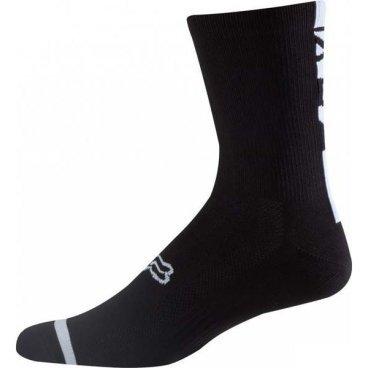 """Носки Fox Logo Trail 8-inch Sock, черныйВелоноски<br>Высокие носки от Fox, выполненные из быстросохнущего синтетического материала, который хорошо отводит влагу от кожи. Вставки из эластичной сетчатой ткани и сглаженные швы обеспечивают дополнительный комфорт. Эти носки – одни из самых удобных, и они отлично подойдут как для катания на велосипеде, так и для любой другой активности.<br><br><br><br>ОСОБЕННОСТИ<br><br><br><br>Высокие (8"""") носки от Fox<br><br>Материал: полипропилен<br><br>Вставки из эластичной сетчатой ткани в критических местах<br><br>Сглаженные швы"""
