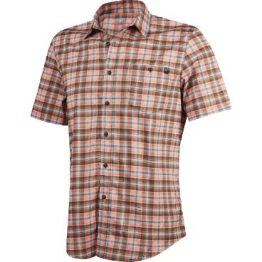 Велорубашка Fox Rivet SS Jersey Rust, коричневыйВелофутболка<br>Оригинальное джерси от Fox, выполненное в виде классической клетчатой рубашки с коротким рукавом. Как бы то ни было, при этом данная модель остаётся максимально удобной и функциональной – она изготовлена из эластичного текстиля, который быстро сохнет и хорошо отводит влагу от тела.<br><br>ОСОБЕННОСТИ<br><br>Материал: полиэстер<br>Оригинальный дизайн<br>Нагрудный карман с застёжкой на пуговице<br>Лоскут для протирки очков на внутреннем шве<br>Светоотражающий принт в виде логотипа бренда на рукаве