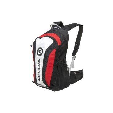 Велосипедный рюкзак KELLYS EXPLORE, объем 20 л, влагостойкий полиэстер, молния YKK, черный/красный