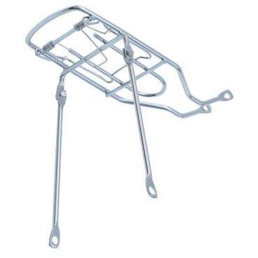 Велобагажник VINCA SPORT, нерегулируемый, прижимная лапка, 26, серебристый, H-ST 01/2 (26)