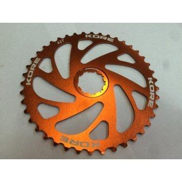 Звезда задняя Kore Rear Sprocket, 40T, 10 скоростей, оранжевая, Shimano совместимая, KCRR0140RAT фото