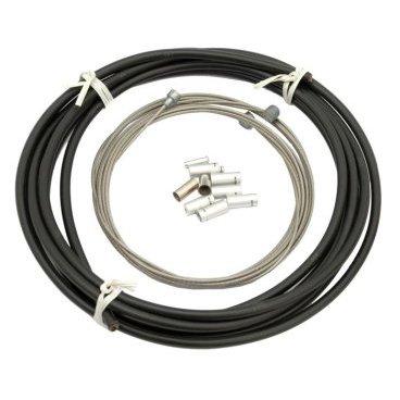 Набор рубашек и тросиков тормоза Kore Compressionless Brake Cable, 3m/5 мм, черный, KBCKP05300SSBAT