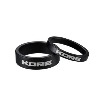 Кольцо рулевой колонки Kore, 10 мм, черный, алюминий, KSP00110BAT