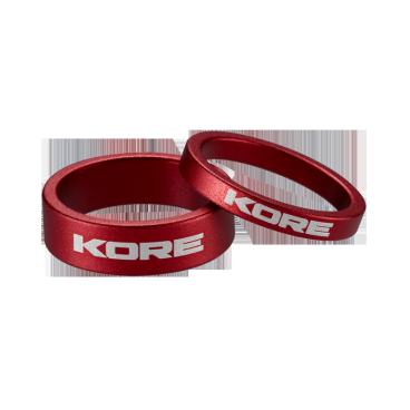 Кольцо рулевой колонки Kore, 10 мм, красный, алюминий, KSP00110RAT