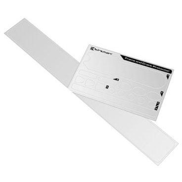 Защита на раму и шатуны Birzman Frame and Crank Protector, BM09-PO-FCP-01Защита для велосипеда<br>Набор прозрачных полиуретановых наклеек для защиты рамы и шатунов велосипеда. В комплекте - наклейка для нижней трубы, 2 наклейки для подседельной трубы, наклейки для шатунов, 4 разных наклейки для рулевого стакана.<br><br>Материал<br><br>TPU
