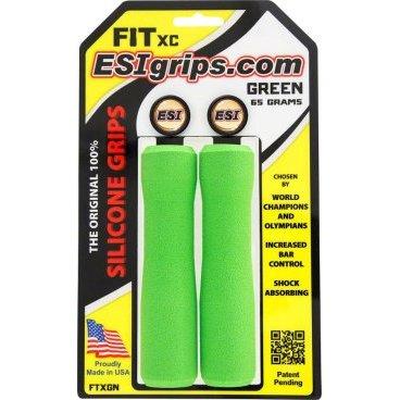 Грипсы ESI Fit XC, 130 мм, силикон, оранжевый, FTXORРучки и Рога<br>100 % силиконовые грипсы ESI FIT XC<br><br>* одинаково хорошо держат в сухую и мокрую погоду<br>* специальная эргономичная форма грипсы<br>* смягчают вибрации<br>* легко одеваются<br>* выдерживают любые температуры<br>* устойчивы к ультрафиолету, не твердеют и не стираются<br>* легко моются <br>* вес пары грипс 65 гр<br>* XC - стандартная версия, смешение Extra Chunky и Chunky (34-32мм)<br><br>Новые грипсы ESI FIT XC созданы для абсолютно естественного положения рук на руле. Новый дизайн перераспределяет давление ваших кистей на грипсы, значительно увеличивая контроль.<br><br>Грипсы FIT имеют три различных зоны:<br>Внутренняя – эта зона создает идеальную ступеньку для кистей, обеспечивая максимум контроля в поворотах.<br>Средняя – эта зона идеально работает при силовом педалировании или ускорении в подъемы. Наружная – самая толстая зона грипс для обеспечения повышенного комфорта кистей, особенно на спусках.<br><br>Каждая зона грипс ESI FIT плавно переходит в соседнюю, обеспечивая естественный хват кисти. Ваши руки чувствуют себя комфортно, держась за грипсу, как будто эксклюзивно сформованную под ваши кисти.