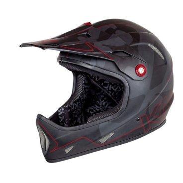 Велошлем KALI Avatar, черно-красныйВелошлемы<br>AVATAR™ Чертовски легкий фуллфейс! Что еще более интересно, как при таком весе, он может быть безумно прочным! Корпус шлема сочетает в себе карбон, кевлар и углепластик.<br>В шлеме используется технология COMPOSITE FUSION™- корпус и пена составляют единое целое, позволяя добиться максимальной прочности при минимальном весе.<br><br>ТЕХНОЛОГИИ:<br>Composite Fusion<br>Pop-Out<br><br>МАТЕРИАЛЫ:<br>Fiberglass<br><br>ОСОБЕННОСТИ:<br>Отлично совмещается с защитой шеи<br>Трехслойная оболочка из карбона кевлара и стекловолокна<br>COMPOSITE FUSION™<br>Пена EPS малой плотности<br>Встроенная система вентиляции<br>Съемные мягкие подкладки<br>Широкий обзор<br>Вес: 980г (размер М)<br>Сертификаты безопасности: EN 1078, CPSC