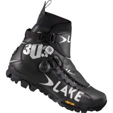 Велотуфли зимние Lake MXZ303-X, черно-серый фото