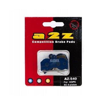 Тормозные колодки A2Z Hope XC 4-piston, синий, AZ-540 фото