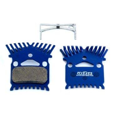 Тормозные колодки A2Z Kooling Shimano M975/965/800/776/775/765/755, с радиатором, синий, AZ-630K