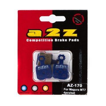 Тормозные колодки A2Z Magura MT7 4pcs/set, синий, AZ-170
