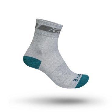 Велоноски женские GripGrab Classic Sock Regular Cut, поддержка стопы, сетчатые зоны, серый
