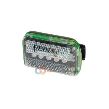 Фонарь 5-221086 передний 5 диодов/2 функции желтый с батареями VENTURAФары и фонари для велосипеда<br>Фонарь передний,светодиодный, 5 желтых диодов, 2 функции, с батареями тип ААА, белый, крепление на руль, в блистере.